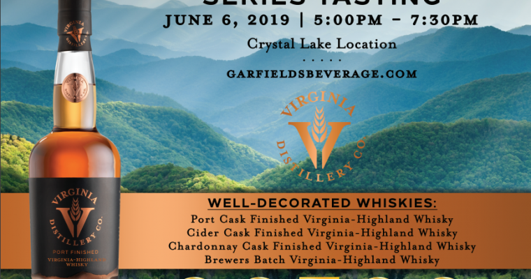 Virginia Distillery Highland Series Tasting Crystal Lake